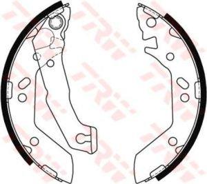 Колодки тормозные HYUNDAI Accent (ТАГАЗ) задние барабанные (4шт.) TRW GS8684, 58305-25A00