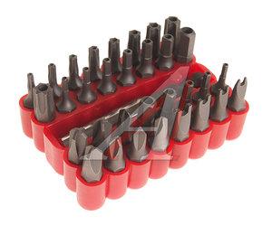 """Набор бит 1/4"""" TORX T8H-40H HEX H6-10мм TORQ 6-10 SPANNER 4-10 TRI-WING 1-4 33 предмета ROCK FORCE RF-2331"""