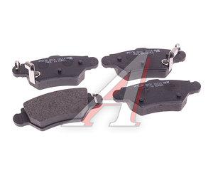 Колодки тормозные OPEL Astra G,Zafira (1.8/2.0) задние (4шт.) HSB HP5136, GDB1352, 1605961