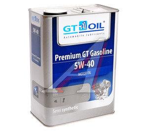 Масло моторное GT PREMIUM GT GASOLINE SM п/синт.4л GT OIL GT OIL SAE 5W40