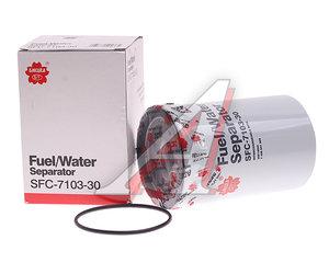 Фильтр топливный VOLVO 9FH,12B,12FH,16FL,16FM (резьба стакана М80мм) SAKURA SFC710330, KC362D, 20514654/20480593/20998367/20998634