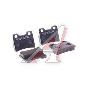 Колодки тормозные KIA Shuma (-01),Sephia (-97) FORD Escort (-00) задние (4шт.) HSB HP1004, 0K2Y2-2623Z