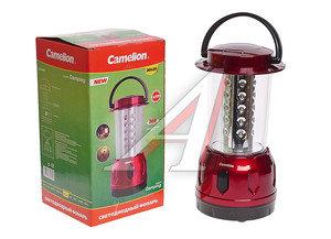 Фонарь 30 светодиодов кемпинговый (пластик) бордовый 3хR20 CAMELION LED5625, C-5625