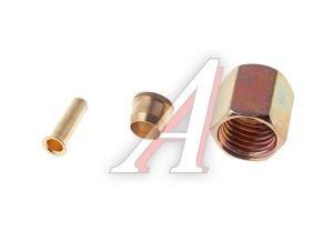 Ремкомплект трубки тормозной пластиковой d=6х1.0 (1гайка,1штуцер,1шайба) РК-ТТП-d6х1.0, АТ-614