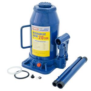 Домкрат бутылочный 20т 242-452мм с клапаном MEGAPOWER M-92004