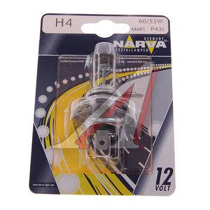 Лампа 12V H4 60/55W P43t-38 блистер (1шт.) NARVA 488814000, N-48881бл, АКГ12-60+55(Н4)