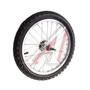 """Колесо велосипедное 16"""" заднее обод сталь хромированное в сборе 630125"""