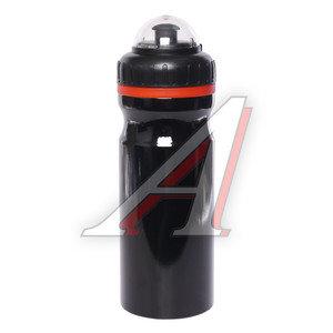 Фляга велосипедная 680мл алюминий черная CB-1562, 550037