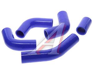 Патрубок ГАЗ-3302 дв.ЗМЗ-405 ЕВРО-2 радиатора комплект 5шт. синий силикон 3302-1303025-10