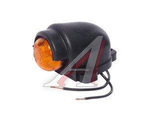 Фонарь габаритный и контурный 12/24V (с козырьком, светодиод) оранжевый ЕВРОСВЕТ ГФ3.19LED