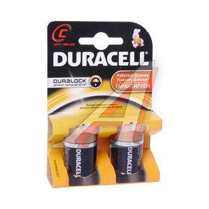 Батарейка C LR14 1.5V блистер (2шт.) Alkaline New DURACELL D-LR14бл