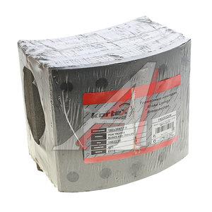 Накладка тормозной колодки BPW 420х180 стандарт (19032) комплект на ось (с заклепками) KORTEX TR020320R, 19032