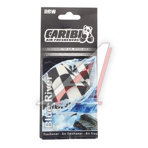 Ароматизатор подвесной пластина (голубая река) флаг Formula-1 CARIBI CRB-F1 голубая река