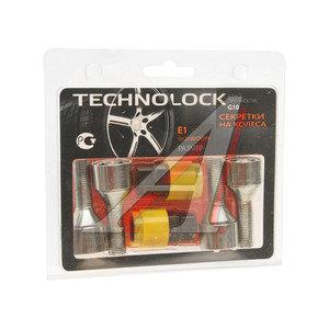 Болт колеса М12х1.25х30.5 секретки конус комплект 4шт. 2 головки под ключ 17/19мм TECHNOLOCK TL-E1, E1