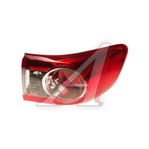 Фонарь задний TOYOTA Corolla (10-) правый (наружный) TYC 11-B729-01-2B, 212-19U7R-UE, 81551-12A30