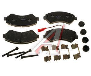 Колодки тормозные PEUGEOT Boxer CITROEN Jumper FIAT Ducato (06-) передние (4шт.) TRW GDB1703, 425374/425376/425463/425464/77364318/77364319