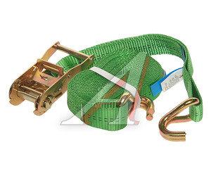 Стяжка крепления груза 2т 6м-35мм (полиэстер) с храповиком KRAFT 0099, 35.10.1.0.6000