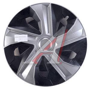 Колпак колеса R-15 черный/хром микс комплект 4шт. ЛУНА МИКС ЛУНА МИКС чер R-15