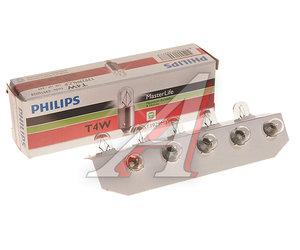 Лампа 24V T4W BA9s Master Life PHILIPS 13929MLCP, P-13929ML, А24-4-1