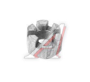 Гайка М10х1.25х10 ЗИЛ-133 межосевого дифференциала прорезная под ключ 17мм ЭТНА 250868-П29, 250868-0-29