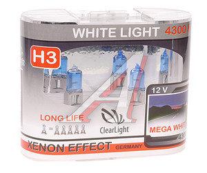 Лампа H3 12V 55W White Life бокс (2шт.) CLEARLIGHT MLH3WL, АКГ12-55-1 (H3)