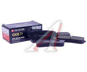Колодки тормозные HYUNDAI iX55 (08-) KIA Carnival (05-) задние (4шт.) HSB HP1037, GDB3449/58302-4DE00/58302-4HA50, 58302-3JA00