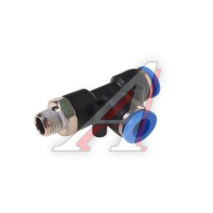 """Фитинг для пластиковых трубок 1/8"""" Т-образный 8мм с наружной резьбой ROCK FORCE RF-SPD08-01"""