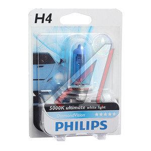 Лампа 12V H4 60/55W P43t-38 5000K блистер (1шт.) Diamond Vision PHILIPS 12342DVB1, P-12342DVбл, АКГ12-60+55(Н4)
