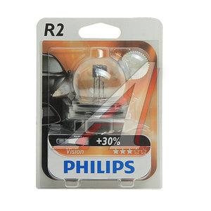 Лампа 12V R2 45/40W +30% P45t-41 блистер (1шт.) Vision PHILIPS 12620B1, P-12620бл, А12-45+40