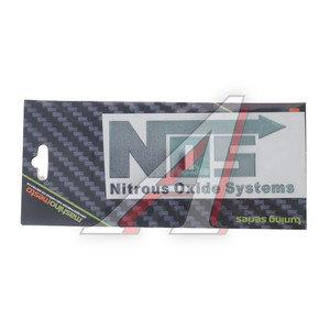"""Наклейка металлическая """"NO2 nitrous oхide systems"""" 25х90мм MASHINOKOM PKTA 037"""