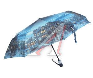 Зонт женский 3 сложения купол-эпонж R-58см RAINDROPS 733825, 278027