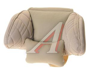 Подушка на подголовник ортопидическая эко-кожа бежевая Comfort AUTOPROFI COM-0250HR L.BE/L.BE