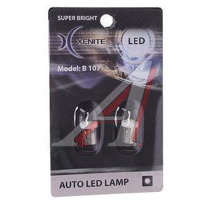 Лампа светодиодная 12V Т4W 0.5W BA9S белая блистер (2шт.) XENITE 1009227