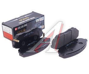 Колодки тормозные KIA Sorento передние (4шт.) HSB HP1017, GDB3343/581013ED03/581013ED02/581013ED00, 58101-3ED00