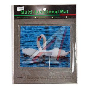 Коврик на панель приборов универсальный противоскользящий 180х150 с рисунком лебеди ART1130