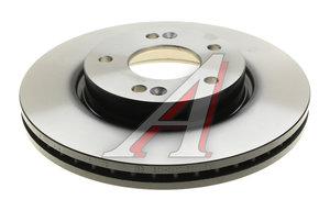 Диск тормозной HYUNDAI i30 (07-) KIA Ceed (06-) (R15) передний (1шт.) TRW DF4865S, 51712-1H000
