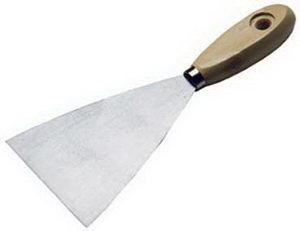 Шпатель 80мм нержавеющая сталь деревянная ручка SPARTA 852155