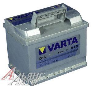 Аккумулятор VARTA Silver Dynamic 63А/ч 6СТ63 D39, 563 401 061 316 2