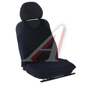 Авточехлы (майка) на передние сиденья полиэстр черные (2 предм.) AIRLINE ASC-F1