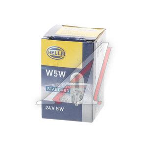 Лампа 24V W5W W2.1х9.5d бесцокольная HELLA 8GP003594251, O-2845, А24-5-2