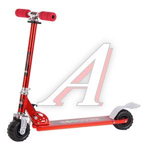 Самокат 2-х колесный (колесо 100мм) до 30кг алюминий красный S808 R, 202