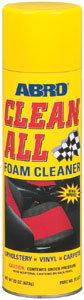 Очиститель обивки салона универсальный пенный 623мл Clean All ABRO ABRO, FC-577-R