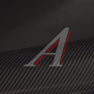 "Пленка виниловая черная ""4D"" карбон 1.52х0.5м, 200мк ТНП, рулон 20 полуметров(10м)"
