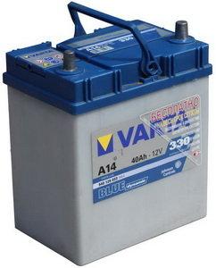 Аккумулятор VARTA Blue Dynamic 40А/ч обратная полярность 6СТ40 А14, 540 126 033 313 2