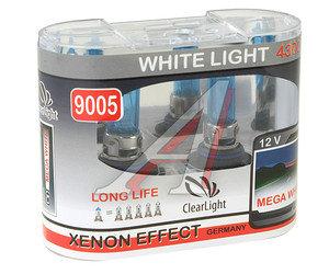Лампа 12V HB3 60W P20d бокс (2шт.) White Life CLEARLIGHT ML9005WL