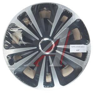 Колпак колеса R-13 черный/хром микс комплект 4шт. ТЕРРА МИКС ТЕРРА МИКС чер R-13