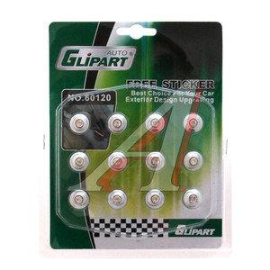 Катафоты Chrome со стразами 15мм GLIPART GT-60120
