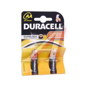 Батарейка AA LR6 1.5V картон (по 1шт.) Alkaline DURACELL D-LR6N, D-LR6Nбл