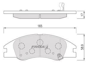 Колодки тормозные KIA Cerato (06-) передние (4шт.) FRIXA FPK17N, 58101-2FA10