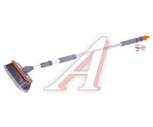 Щетка для мытья автомобиля телескопическая 2-х секционная под шланг с подачей воды STELS 55227
